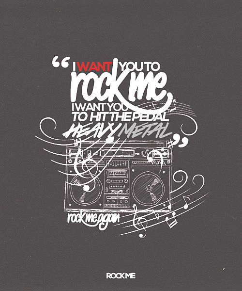 take me home typography + rock me