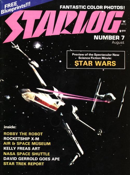"Starlog #7 ""Preview of the Spectacular New Science Fiction Movie: STAR WARS."""
