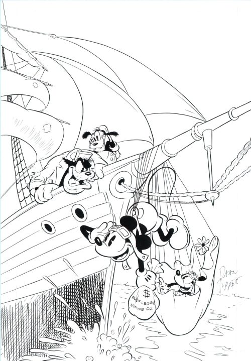 "straightsagainstcurves:  Daan Jippes' Mickey Mouse drawings are the epitome of cartoon appeal. Daan is originally from Amsterdam and did many comic covers for Disney's republishings of the Mickey, Donald, Uncle Scrooge, and Ducktales comic series through Gladstone in the 1980's and 1990's. This is just a small part of an amzing career in comics and animation. I was introduced to his work a few years back and ever since, I've used his series of Mickey drawings featured at the top as my ""There's so much yet to learn"" reality check. Daan's use of energy and line flow in his drawings demonstrate an incredible knowledge of draftsmanship and appeal. How your eyes travel through his drawings feel like butter melting melting down a stack of pancakes. The energy that he puts into his drawings truly makes the characters jump off of the page. His rounded shapes all work together in a bold and refreshing way. It may be treason to say, but I feel like Daan's version of Mickey Mouse is a bit stronger than Floyd Gottfredson's. While Floyd's comics of Mickey are unbelievably appealing and demonstrate and amazing an incredible knowledge of draftsmanship, solidity, and appeal, I feel like Daan is taking what Floyd established and pushing the shapes and pliability in the characters just a tad farther. That being said, without Floyd's Mickeys, there would be no Daan's Mickeys. I hope these inspire you as much as they do me.  Jippes is just too damn good for my words."