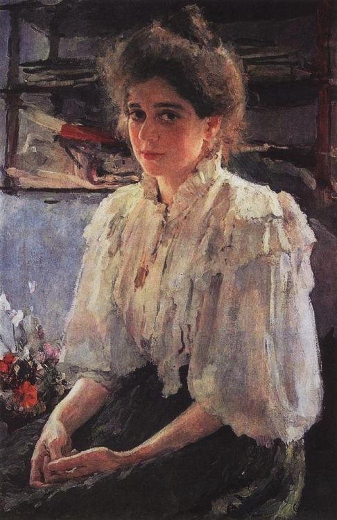 artist-serov:Portrait of Maria Lvova, 1895, Valentin SerovMedium: oil,canvas #art