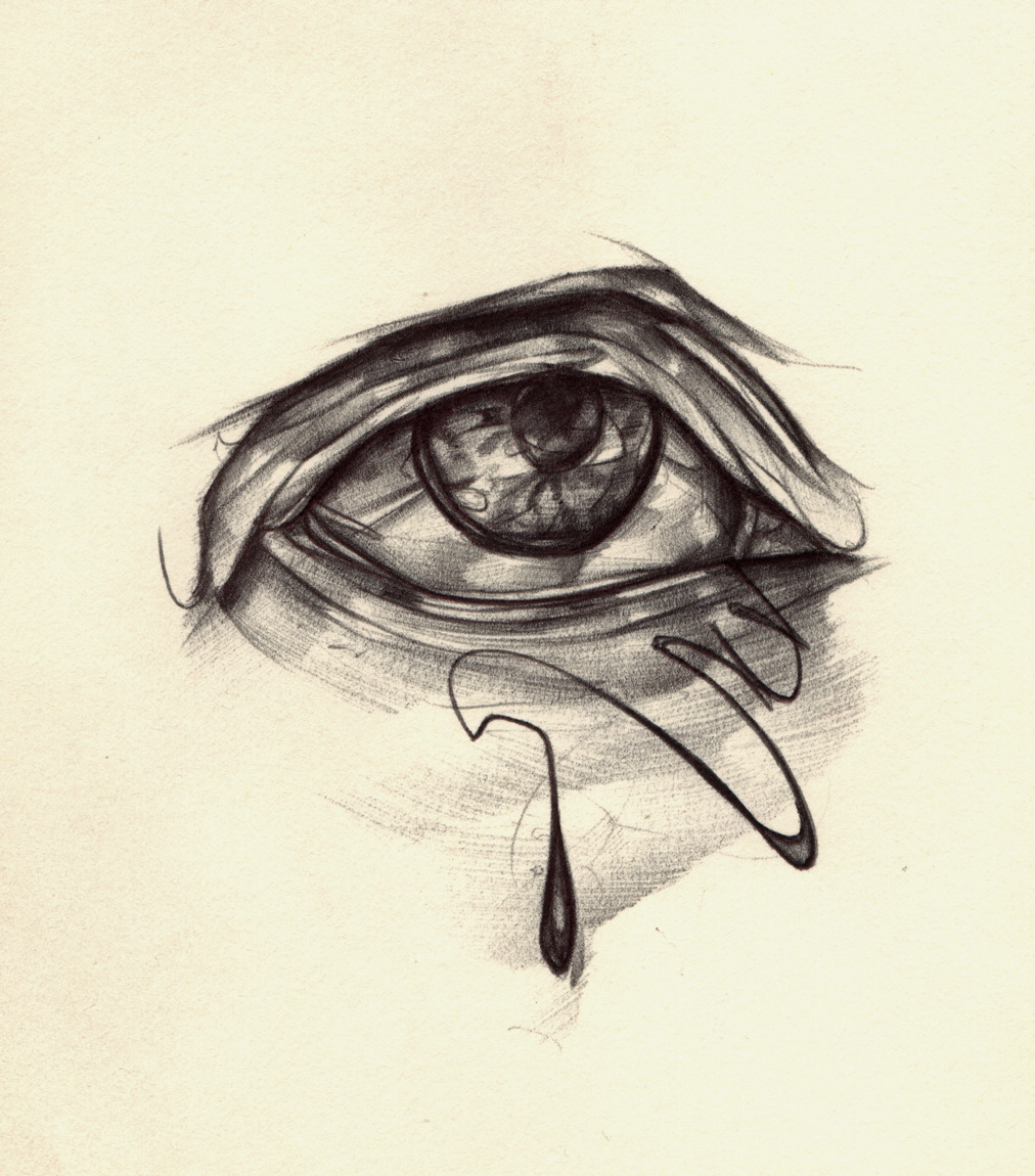 lefthanddraws:  eye sketching with ballpoint