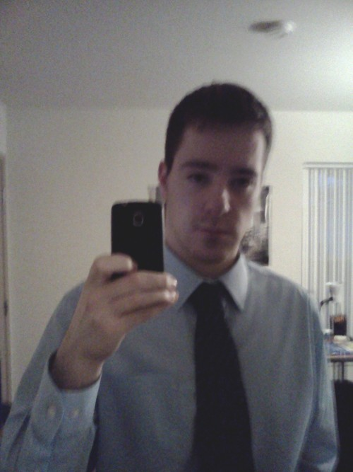 Selfie #2- Suit Shirt and and Tie edition.