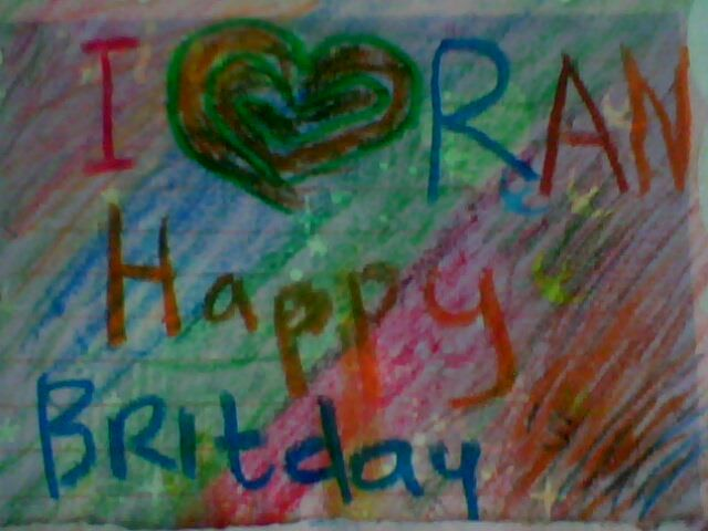 This picture a birthday present from my little friend when the age of 15 years old