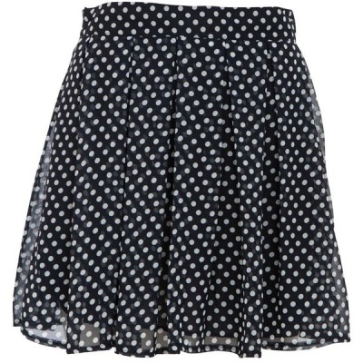 Navy Polka Dot Box Pleat Skater Skirt   ❤ liked on Polyvore (see more skater skirts)