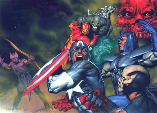 Captain America & the Avengers By Glenn Fabry