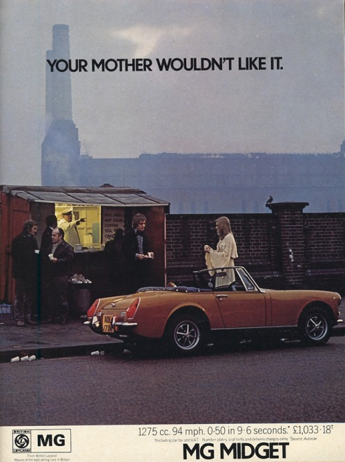 MG Midget - Vintage Car Ads