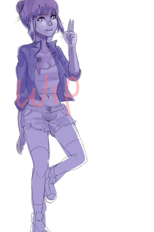 another day another random wip… Every drawing that I start wit