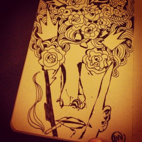 Floral Visions Sketchbook swag  By M.  #moleskine #sketchbook #swag #art #floral #pattern #drawing  #penandink #blackandwhite #smoking #dope #face #100likes  #mishat #mishatyutyunik #blubeard #shine #nyc #brooklyn #instagood #instagram #instamood #monday