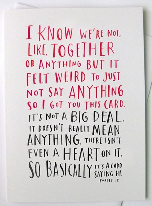 The perfect Feb. 14 card for that sort-of soulmate.