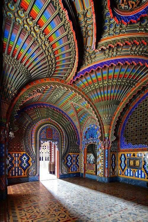 The Peacock Room – Castello di Sammezzano in Reggello, Tuscany, Italy.