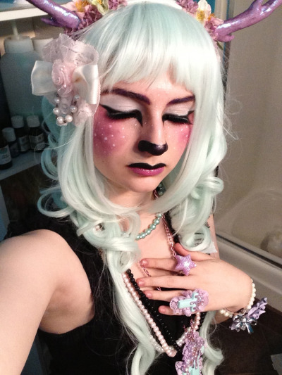 cryptozoological:  another picture of the faun makeup i did uwu just wanted to show off the makeup and accessories a little better aha