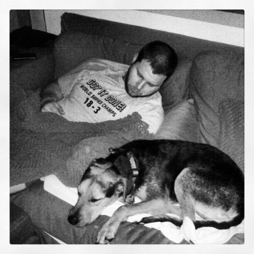 Gettin' it done. #dogs #hubby #love #sleep @matthewakery