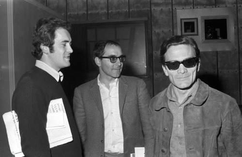 wandrlust:  Bernardo Bertolucci, Jean-Luc Godard and Pier Paolo Pasolini at a meeting for the film Love and Anger, 1969.