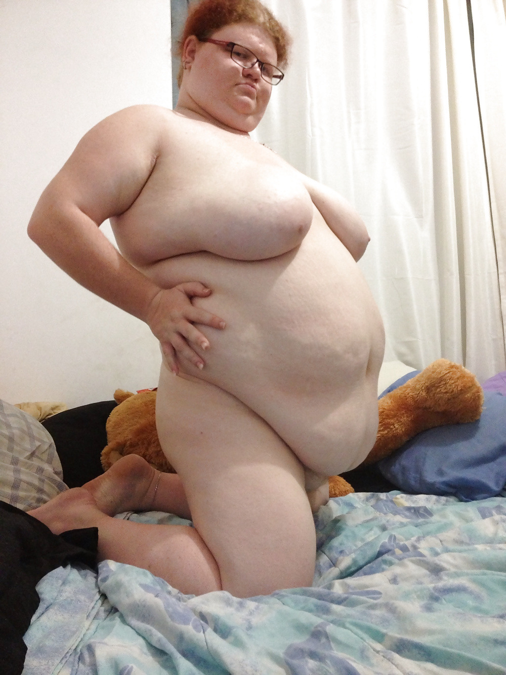 Horny fat bbw lesbians playing with with a big dildo 8