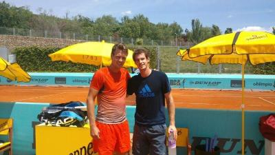 Great practice with Andy…thx  —Tomas Berdych (official site)