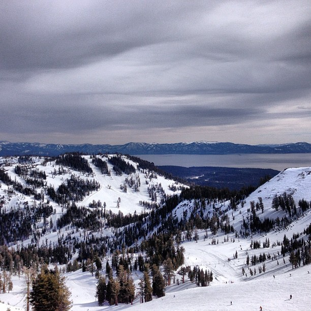 Awesome view of #laketahoe from the summit of #Alpinemeadows
