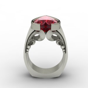 ruby heart ring design by J ALBRECHT DESIGNS