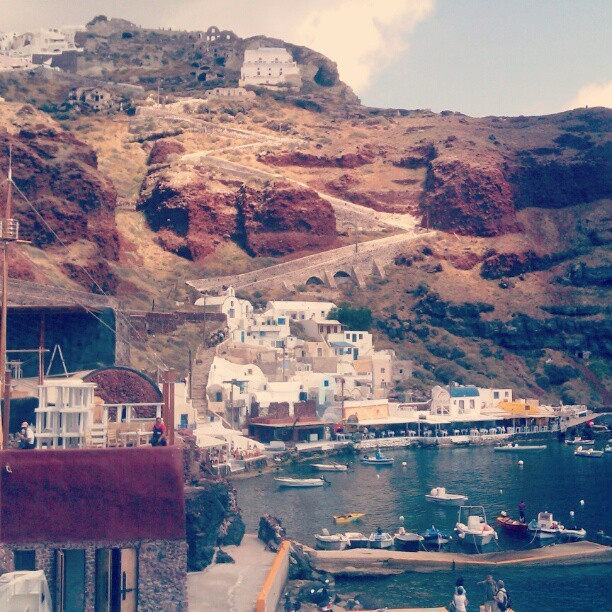 #ammoudibay #santorini #greece #harbour #sea #oia #dimitris