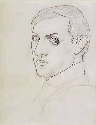 Pablo Picasso, self-portrait, 1917