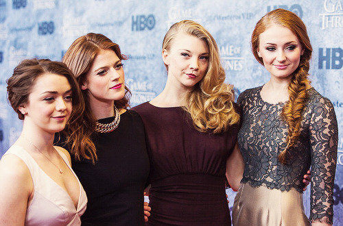 Maisie Williams, Rose Leslie  Natalie Dormer and Sophie Turner attend the Game of Thrones Season 3 Seattle Premiere (3.21.13)