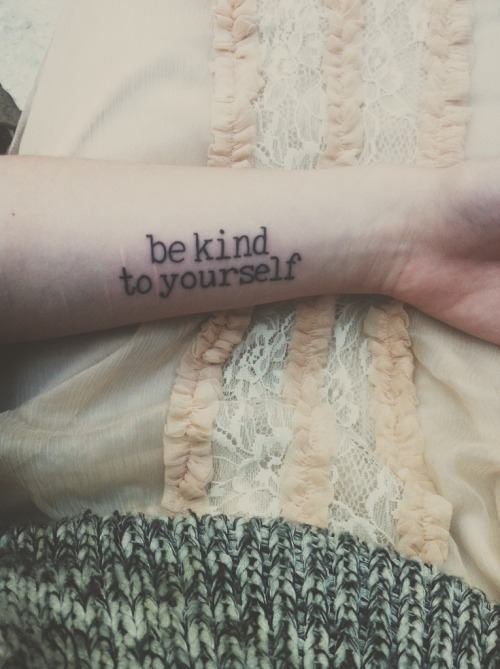 fuckyeahtattoos:  I started harming myself when I was eight years old. And I didn't stop until I was 18. I'm 19 now, it's been a full year since the last time i cut or pulled my hair. it feels so good to be free from that. i got this as a reminder that i am beautiful and deserving of respect and kindness. why do i show it to everyone but myself?  it was done by colby at blackbird in nashville