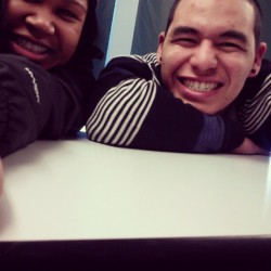 My forth period buddy Tommy and I :) #school #friends #buddies #smile #cute #Tommy #fun #losers #Monday