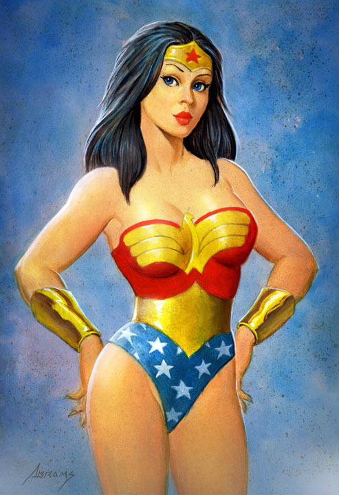 Wonderwoman 3/4 figure commission by ~PaulAbrams