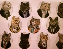 (✿´ ꒳ ` )~♡  Dapper cats in suits!