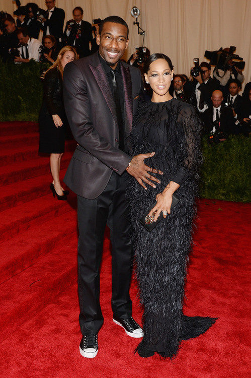 Amar'e and Alexis Stoudemire at MET Gala 2013