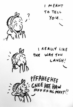 muredraws:  How do I accept compliments from adorable people (I.e. all of mankind) somebody tell me  Bethan is made of adorbs. This is facts.