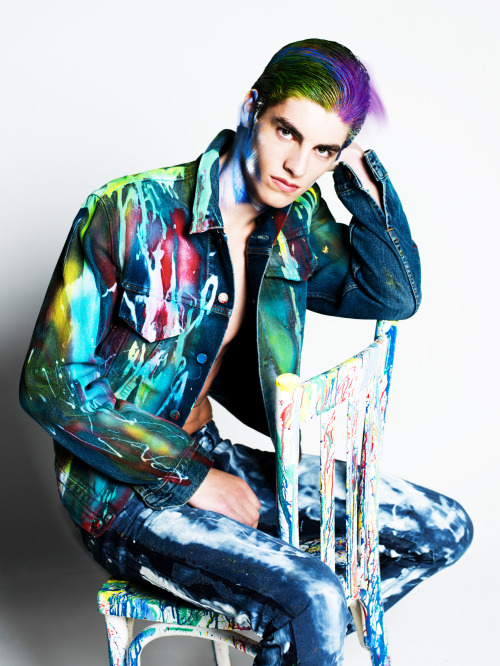 Fashionisto Magazine Issue 7Photographer: Zeb Daemen assisted by Koen Vernimmen Stylist: Pierre GorzalaHair / Make-up : Vera DiercksModel: Dennis @ Hakim Model Management