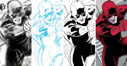 Creating Daredevil in stages - Paolo Rivera