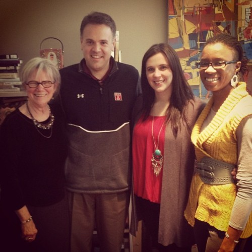 #tuhonors staff hanging out with @coachMattRhule! What Honors class should he teach?