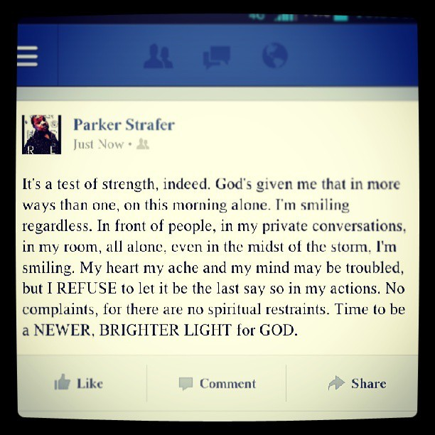 Couldn't just leave this on FB, had to share #GodIsWithMe #247Joy #NoMoreComplaining