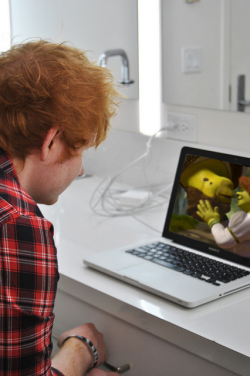 myteddysheeran:  teddysheeranwithbass:  waeh-edsheeran:  theperfectedsheeran:  waeh-edsheeran:  theperfectedsheeran:  waeh-edsheeran:  Ed watching Shrek  the 13th time?  Maybe he's still waiting for a fairytale too…  But what if the laptop breaks?  Shoudda got a VCR  But now he owns a blue ray  true say
