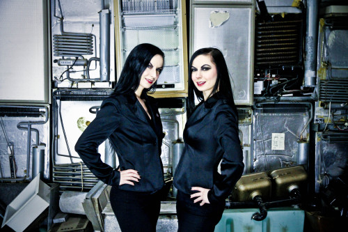 The Soska Sisters on-set of American Mary (2012)