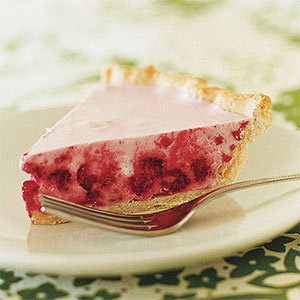 Daily Bite: You can use fresh or frozen raspberries in this light and fluffy Chilled Raspberry Cream Pie.