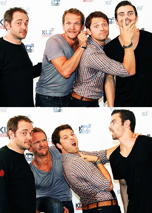 Can any member of this cast ever take a normal picture?