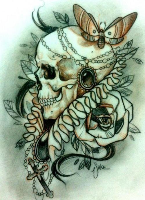 Sake Tattoo Design