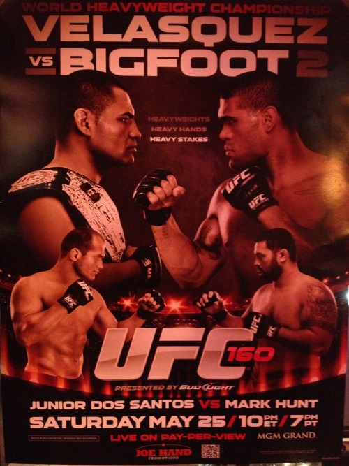 Watch UFC 160 with us!
