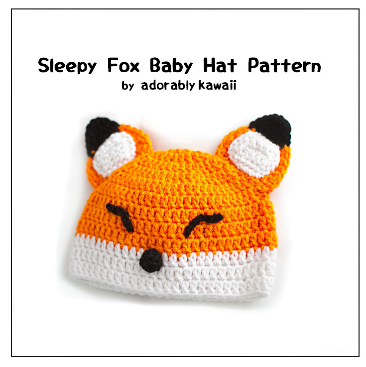 I've been working on the Sleepy Fox Baby Hat pattern for over a month and it's finally done! Sizes available: 0-3mo, 3-6mo, and 6-12mo. Pattern is available on my website, Ravelry, and Craftsy.