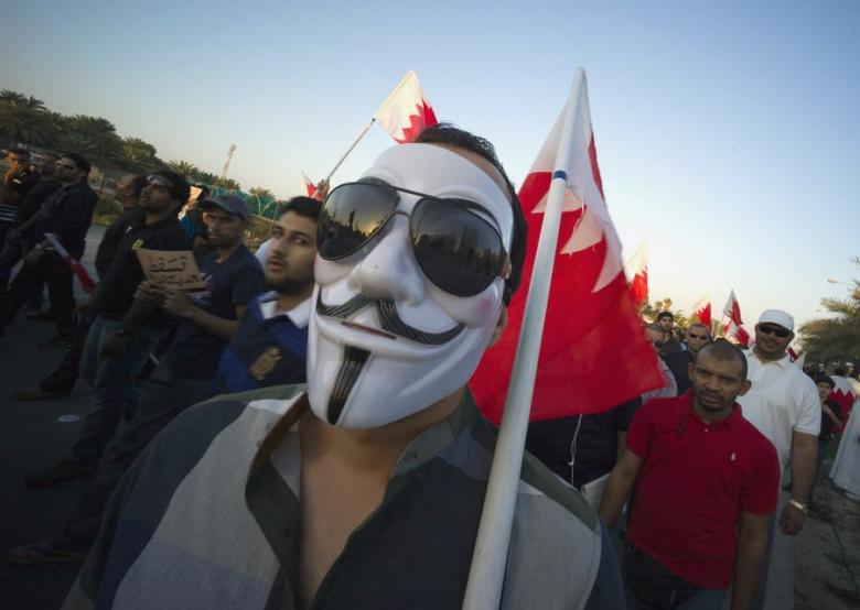 "Bahrian Bans Guy Fawkes Masks To Repress Uprising - #Anonymous #AnonOps #AnonFamily #WTF Bahrain has banned Guy Fawkes masks, in an apparent bid to further stifle opposition protests in the Gulf state. A document issued by the Bahraini Ministry of Industry and Commerce on Thursday cited ""public safety"" as a factor behind the decision to ban the import of ""revolution masks."" The Guy Fawkes mask, which became iconic thanks to its use in the 2006 movie ""V for Vendetta,"" has become an international symbol of anarchism and revolution. It is also an emblem of the hacktivist group Anonymous. The mask has become particularly widespread in the Middle East to maintain anonymity during anti-government protests. The United Arab Emirates also banned the mask in November, saying that anyone wearing the mask could be subjected to police questioning, Gulf News reported at the time. Bahrain has witnessed two years of political upheaval linked to opposition demands for a real constitutional monarchy, with the unrest claiming at least 80 lives, according to international rights groups. Protests continue despite the resumption on February 10 of a national dialogue between opposition groups and the government. A Saudi-led Gulf force entered the island in March 2011 to help crush the rebellion, but the country still witnesses almost daily protests. The small but strategic kingdom is home to US Fifth Fleet. Related: Obama Arms Bahrain Monarchy Against Pro-Democracy Protesters"
