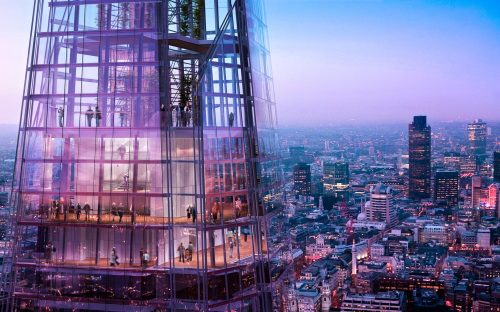 View from the Shard, London…