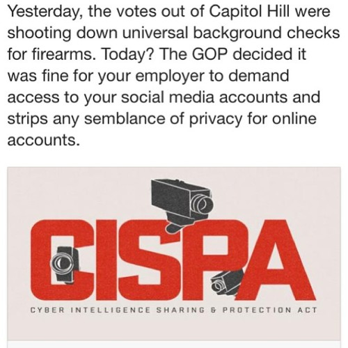 "fuckyeahfeminists:  thelittlekneesofbees:  wilkinsky:  #CISPA #privacy remember when you had a wedgie over Instagram's ""terms of service"" update? This is like an update to THE INTERNET's ""Terms Of Service."" Understand?  literally no one paid attention when i posted about it yesterday so here it is again.   Damn. I got an email about it this week. I know it must be hard to get people to care/pay attention with the Boston situation. This is important, too, however."