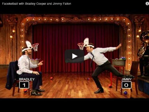 Watch Bradley Cooper and Jimmy Fallon play Faceketball.