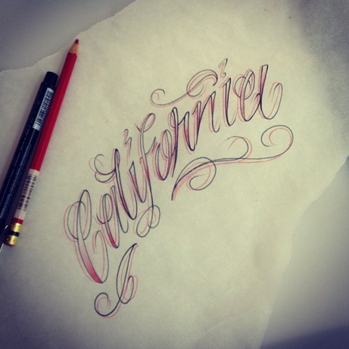 Just drawing away #tattoo #tattoos #tattooartist #california #home #script #drawing #sketch