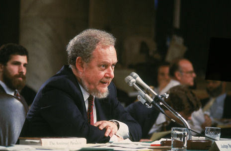 Postscript: Robert Bork, 1927-2012  Robert Bork, who died Wednesday, was an unrepentant reactionary who was on the wrong side of every major legal controversy of the twentieth century.   - Jeffrey Toobin. Continue reading: http://nyr.kr/WsJ5XE  Photograph by CNP/Getty.