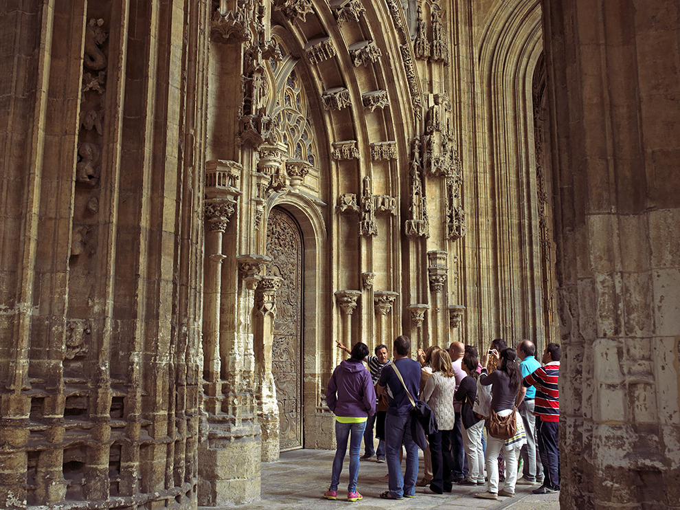 Follow the crowd to the Cathedral of San Salvador in Oviedo, Spain. Photograph by Ana Nance, Redux