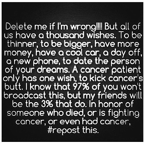 #repost from my auntie @maliakwe ! #fuckcancer my auntie is a survivor @jamie22jame but we will always support you no matter what. I love you!! and RIP to my lolo (grandpa) who had passed because of cancer. I love you lolo! miss you too! see you soon! 😘💖