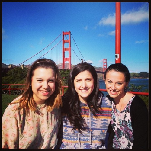 Ladies in front of the Golden Gate Bridge!